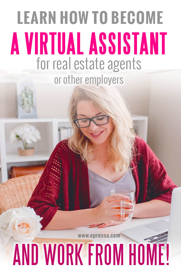 Why become a real estate virtual assistant? Learn why many stay at home moms are becoming real estate virtual assistants. Read about work at home benefits. #VirtualAssistant
